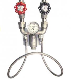 Mezcladora de Agua Caliente y Fría, Acero Inoxidable