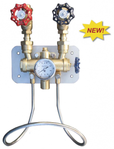 Mezcladora de Vapor y Agua Fría, Bronce