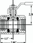 Ball Valve Tech Drawing