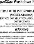 Duramix 8000 Steam Trap Instructions