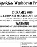 Duramix 8000 Installation Instructions